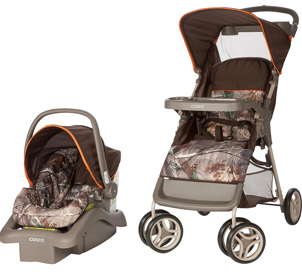 a3df9a812 Cosco Infant Stroller Lift Car Seat Travel System Portable Realtree Orange  Camo