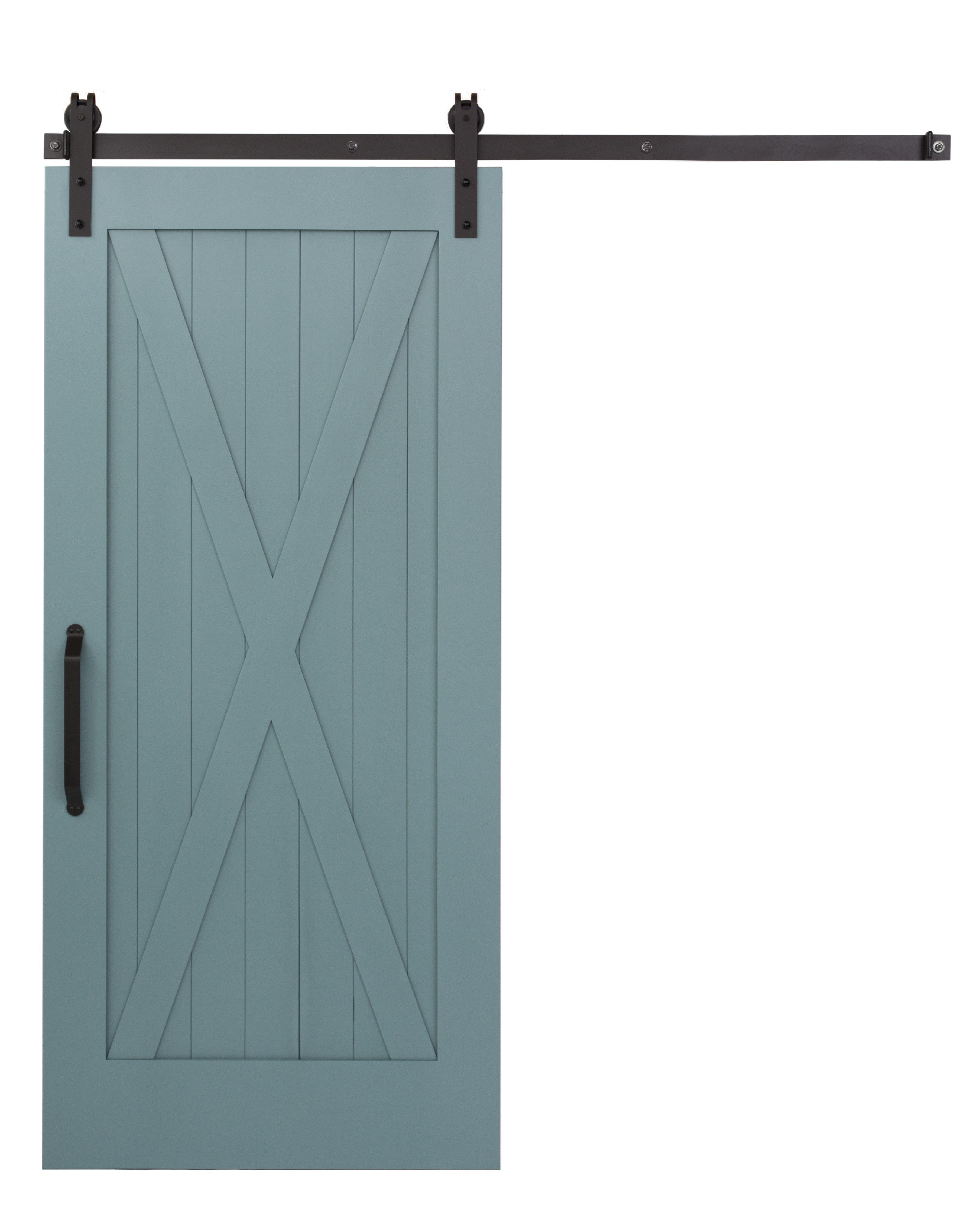 Teal And Blue Gray Full X Barn Door By Rustica Hardware Red Barn Door Interior Sliding Glass Doors Barn Doors Sliding