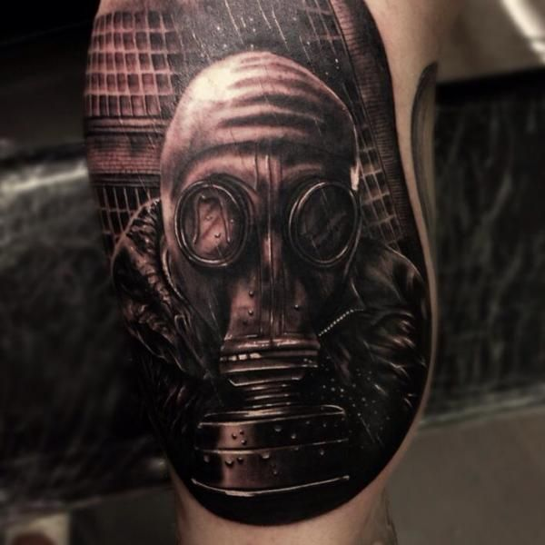 Pin By Mytorius On Believe Tattoo Men: 18 Dark And Mysterious Gas Mask Tattoos