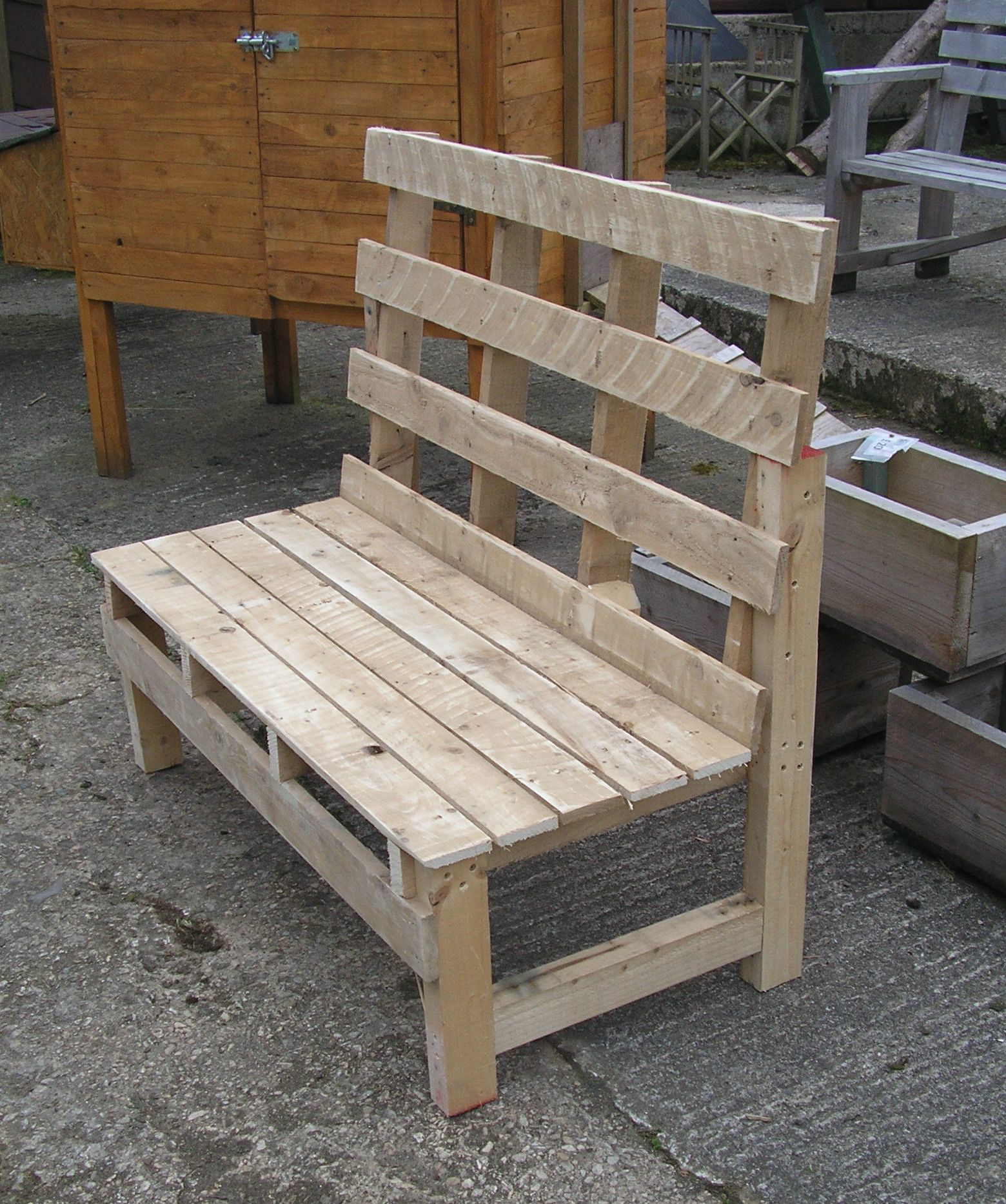 reclaimed wood pallet bench. Pallet Bench From Pallets And Recycled Wood | Benches Pinterest Bench, Reclaimed E