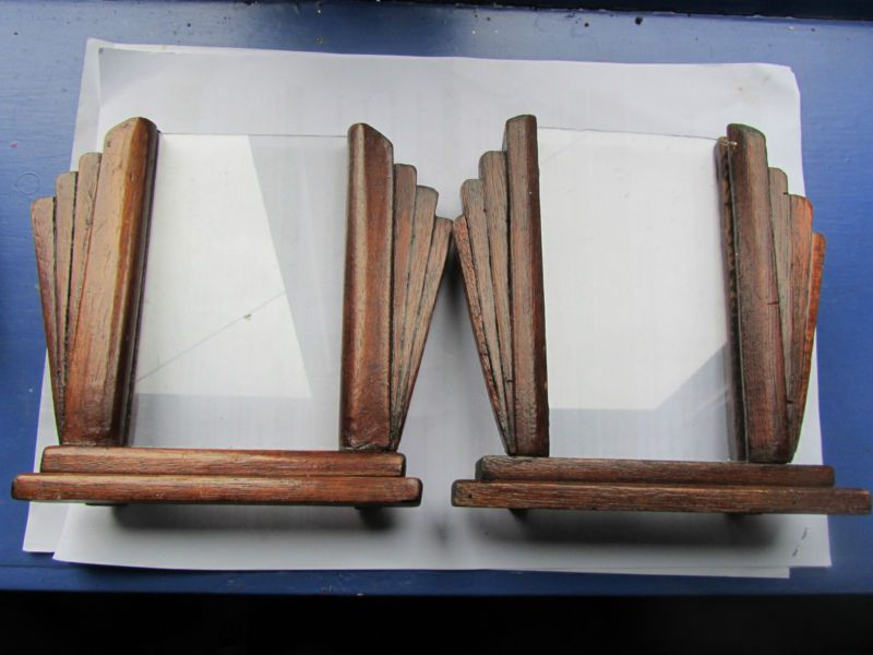 Vintage Art Deco Wooden Picture Photo Frames Country