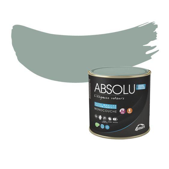 peinture finition absolu acrylique vert de gris mat 0 5 l. Black Bedroom Furniture Sets. Home Design Ideas