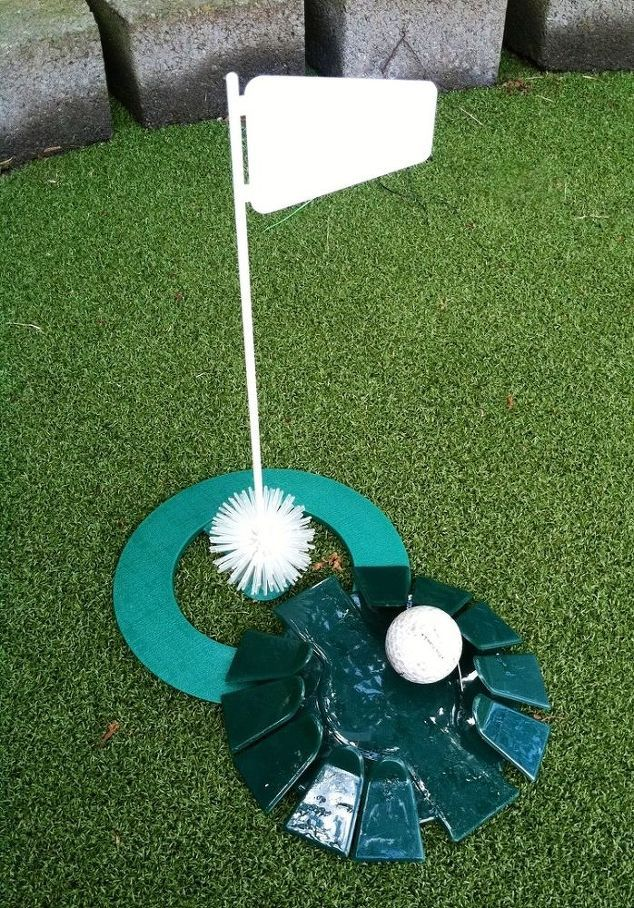 How To Build A Putting Green In My Backyard diy backyard golf green | backyard, golf and dads