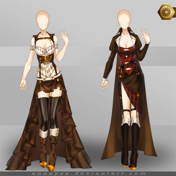 [Closed]Adoptable Outfit (Steampunk 3-4) by Anneysa.deviantart.com on @DeviantArt | cosplay ...