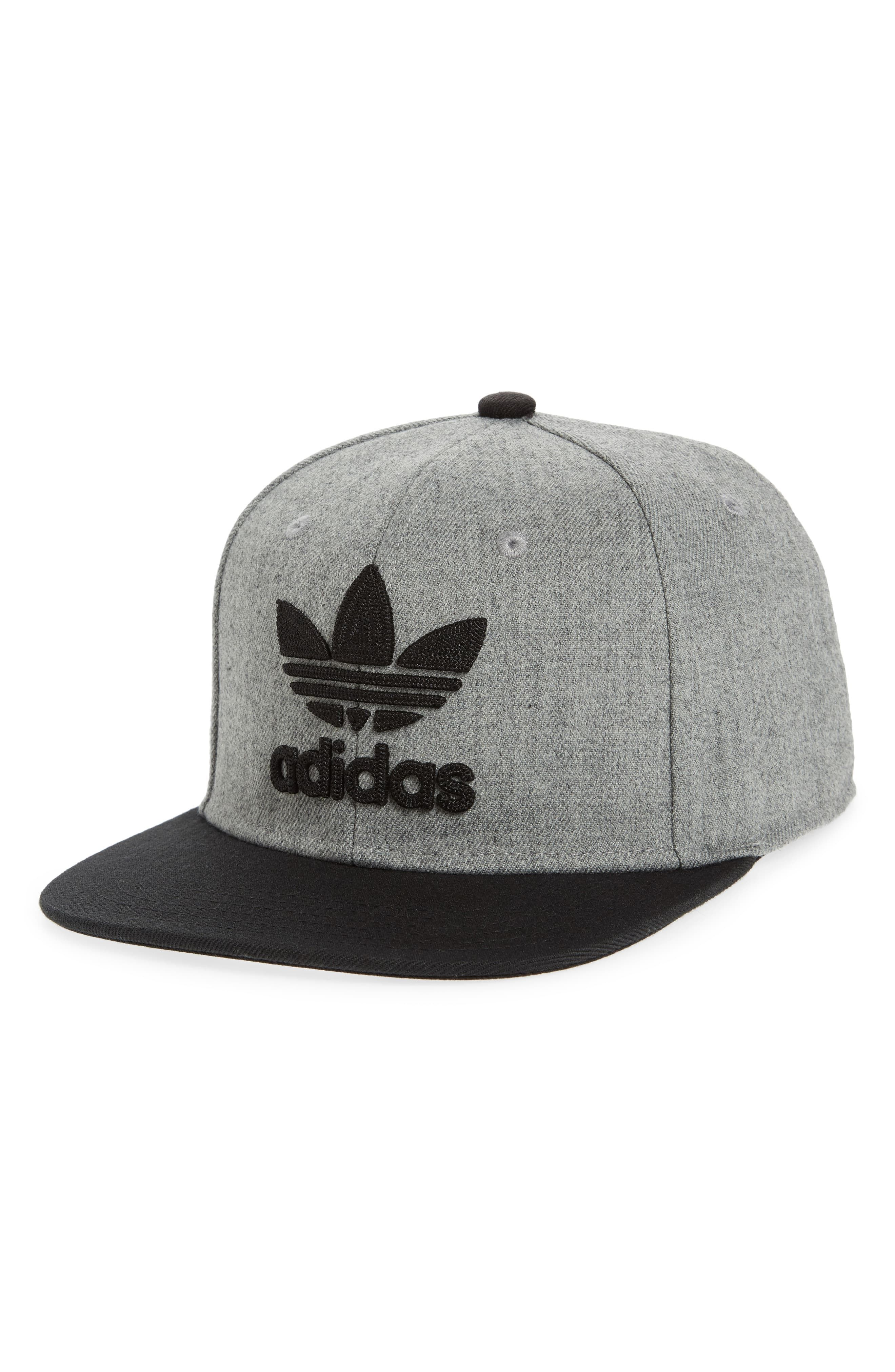 release date 95546 90694 Men s Adidas Originals Trefoil Chain Snapback Baseball Cap - Grey