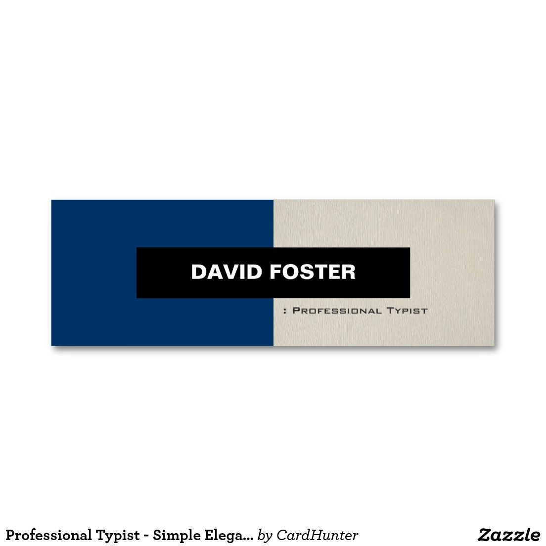 Professional typist simple elegant stylish mini business card professional typist simple elegant stylish double sided mini business cards pack of 20 colourmoves
