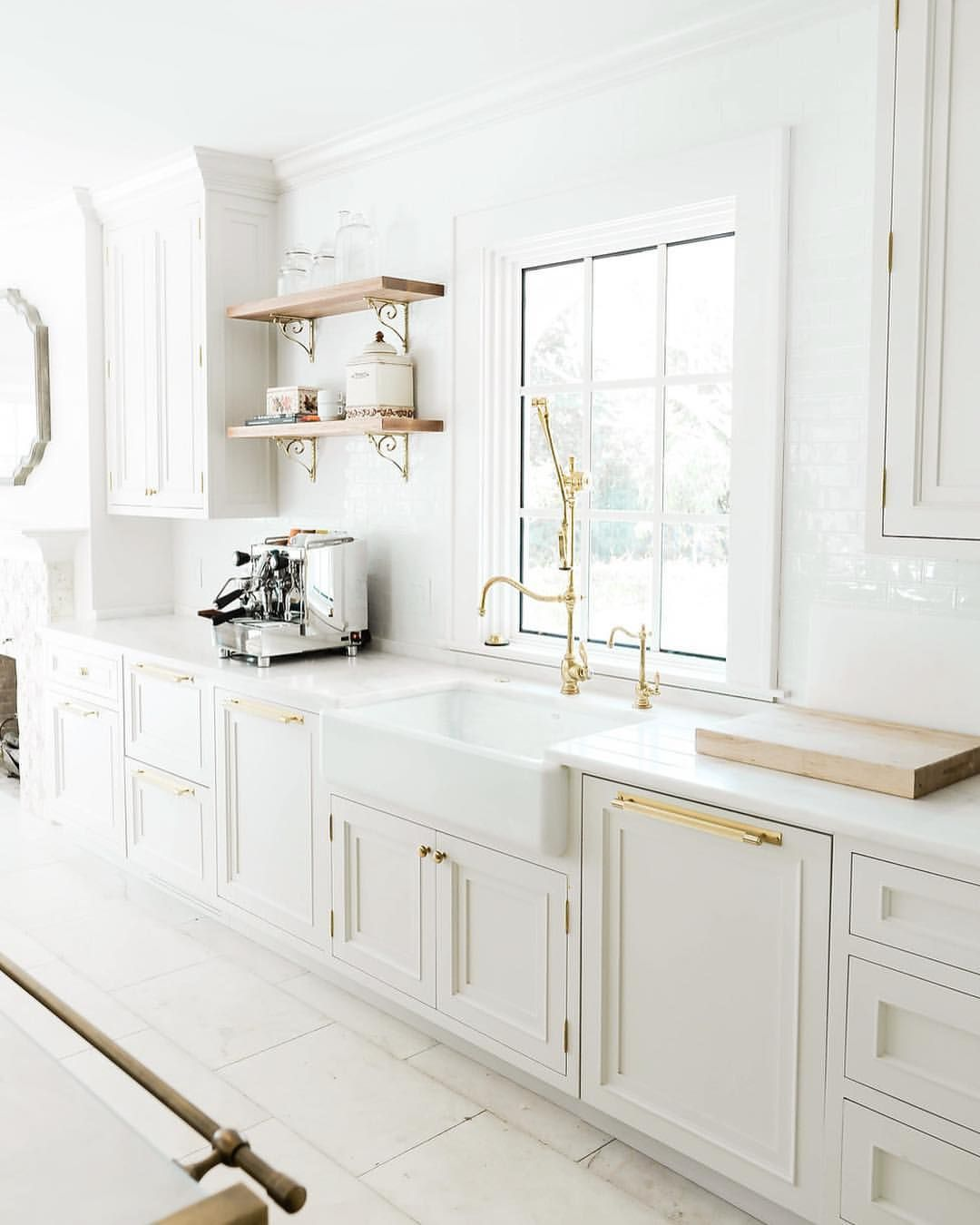 Small Galley Kitchen Ideas Design Inspiration: White Gold And Limestone In This Stunning Kitchen