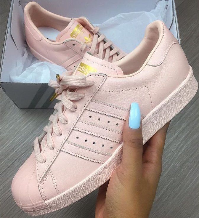 cream and rose gold adidas superstars