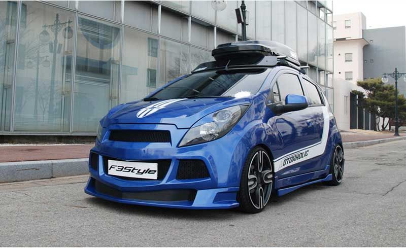 K Tuning Offers F3s Lip Type Body Kit Aeroparts Front Side Set For 2011 2013 Chevrolet Spark X2f Matiz Creative Price 450 Made In K Autos Coches Vehiculos