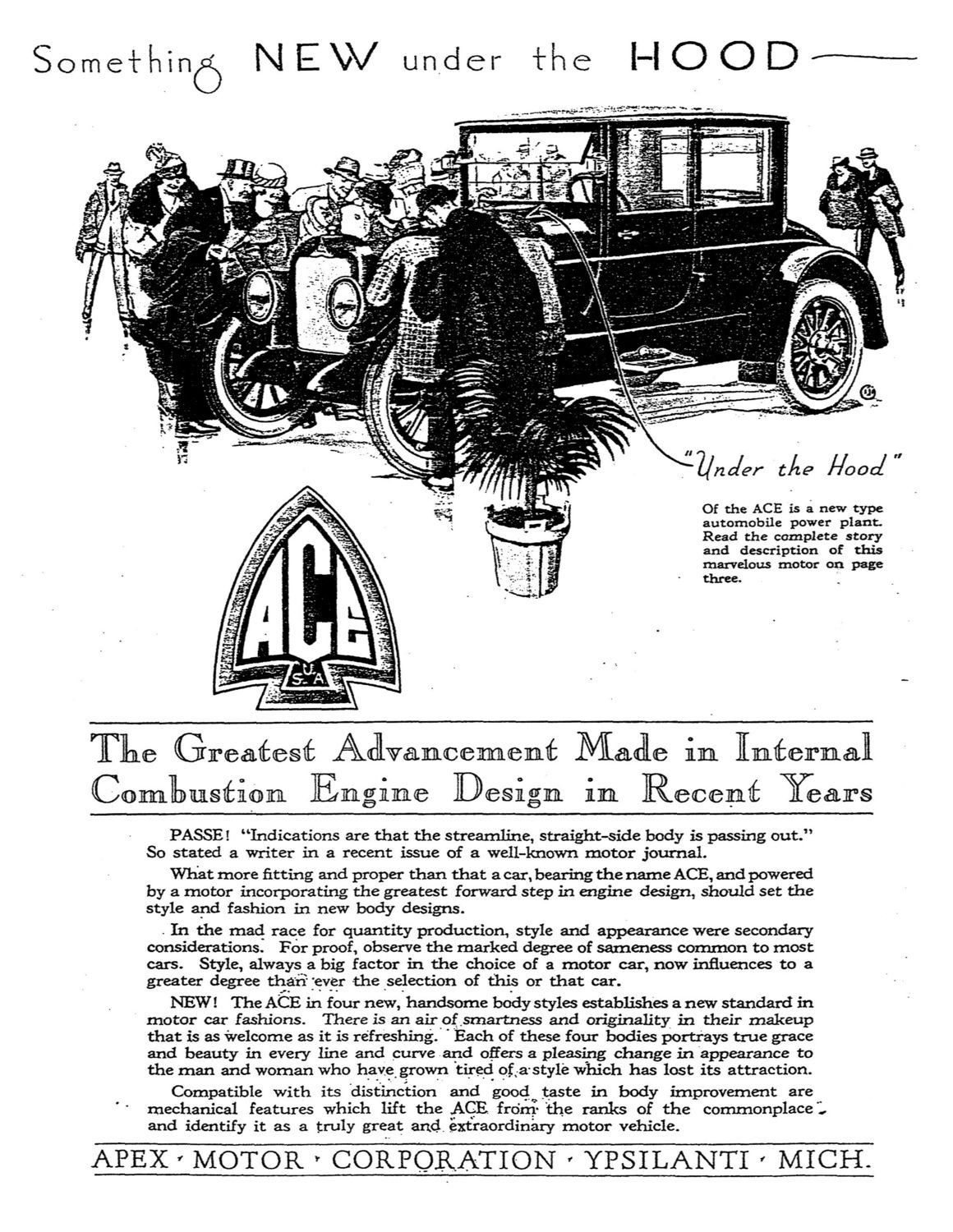 The Ace was an American-assembled car made in Ypsilanti, Michigan by ...