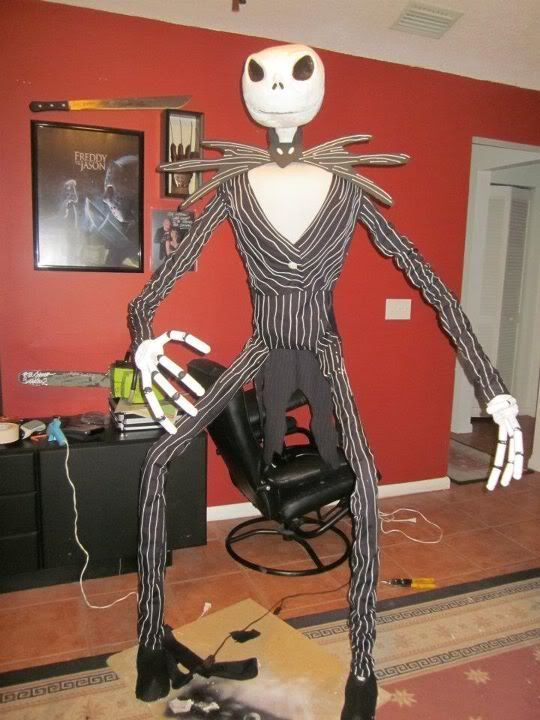 Life Size Jack Skellington WIP in 2018 Halloween-Decorations