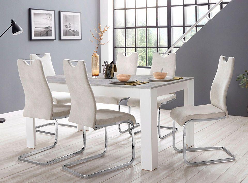 Steinhoff »Zabona« Essgruppe (1 Tisch + 4 Stühle) Jetzt bestellen ...