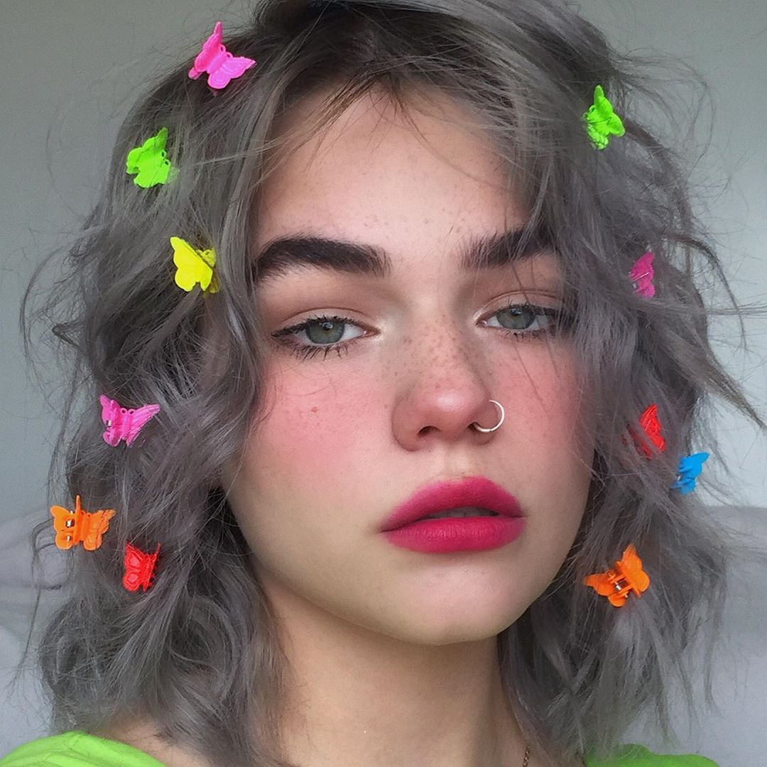 Ad Went For A Dark E Girl Look With The Toofaced Watermelon Slice Face And Eye Palette Products Use In 2020 Edgy Makeup Grunge Eye Makeup Alternative Makeup
