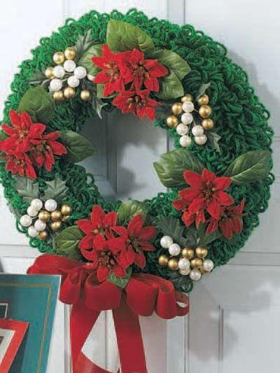 Christmasdoorwreathcrochetpattern Christmas Wreaths Crismas