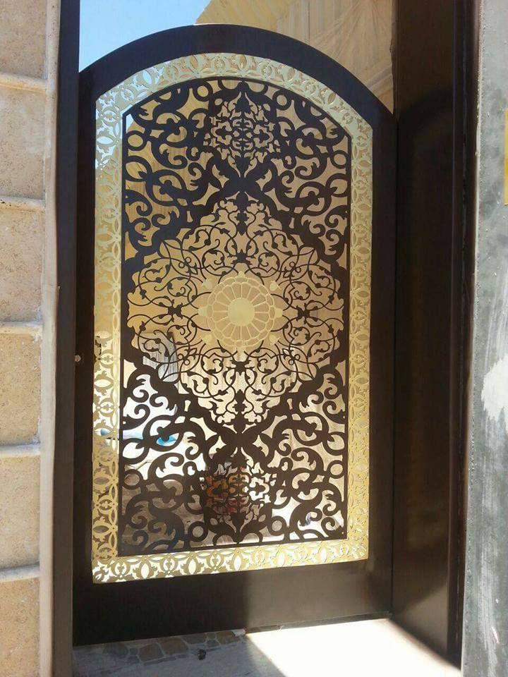 Door تنفيذ ابواب الحديد عادي زخرفه و ليزر الرياض 0530608113 Door Glass Design Gate Wall Design Wooden House Design