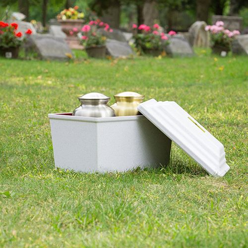 Guardian Urn Vault in White   Urn Vaults   Burial vaults