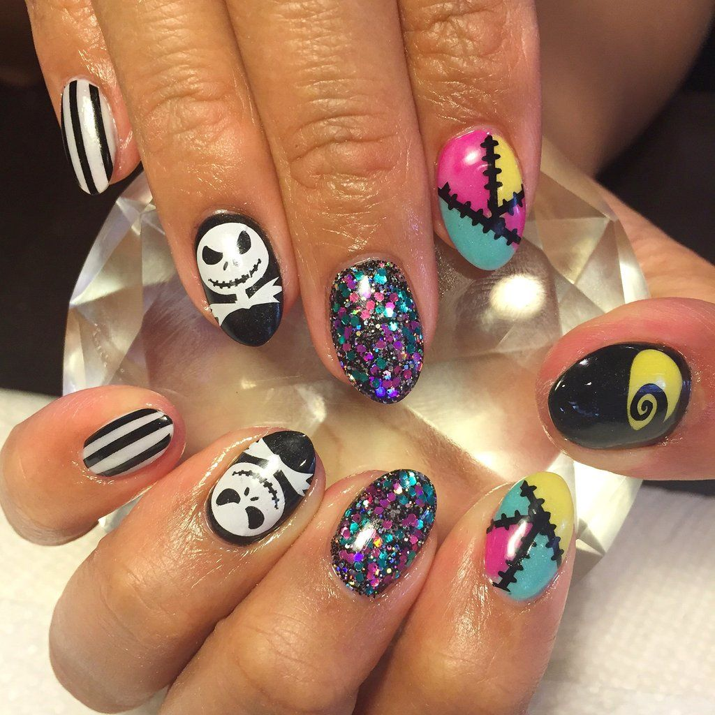 Halloween Nails | Halloween Nail Art | Jack Skellington Nails ...