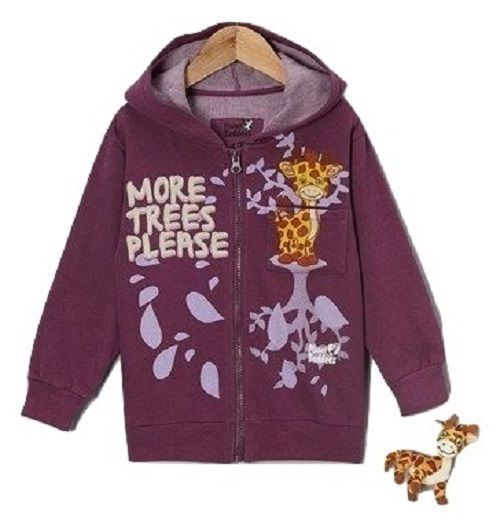 Planet Buddeez Girls Gyro The Giraffe Long Sleeve Hoodie W/Stuffed Giraffe New #PlanetBuddeez #Everyday