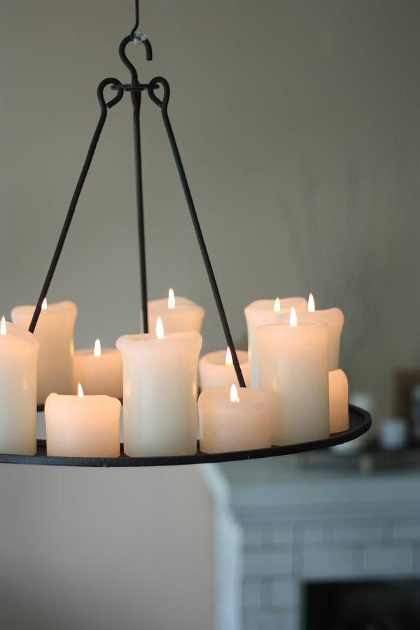 Pillar candle chandelier round chandeliers pinterest pillar candle chandelier round aloadofball Images