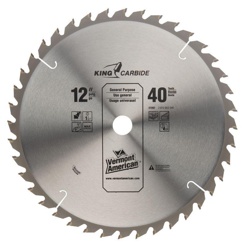 Vermont american 27257 12 40t smooth cut carbide circular saw blade vermont american 27257 12 40t smooth cut carbide circular saw blade cutting accessories circular saw greentooth Choice Image