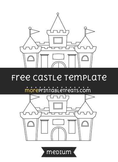 image about Castle Templates Printable identified as Free of charge Castle Template - Medium Doodles Templates