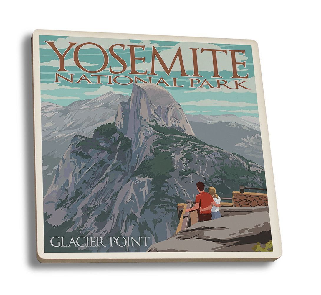 Half Dome Yosemite National Park Poster: Yosemite National Park, California