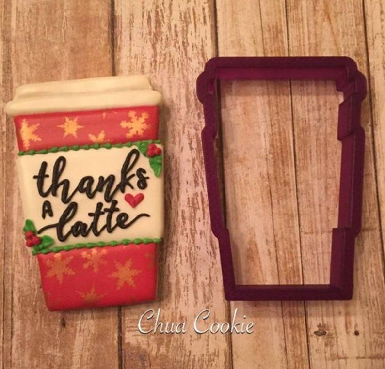 Coffee, Latte, Cup Of Joe Cookie Cutter And Fondant Cutter