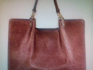 Fashion Genuine Leather Shoulder Bag/ Umber