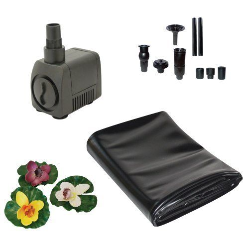 Totalpond a20010 7 foot by 10 foot pond starter kit by for Small pond pump filter kit