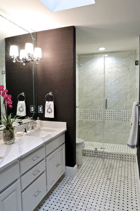 Small bathroom remodel project Before and after Masta bath