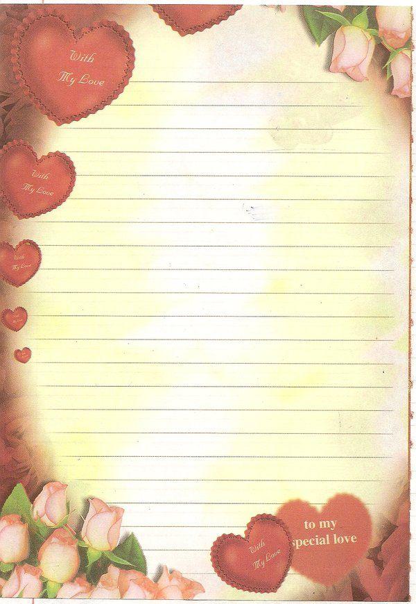 صور اوراق حب للكتابة عليها Love Letter Printable Lined Paper Floral Stationery Printable Stationery