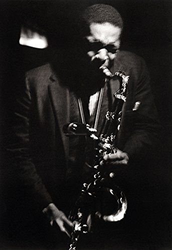 John coltrane poster playing the saxophone iconic jazz musician
