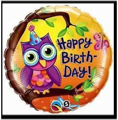 OWL Birthday FOIL BALLOON Perfect for Giggle and Hoot PARTY HELIUM OR AIR FILL
