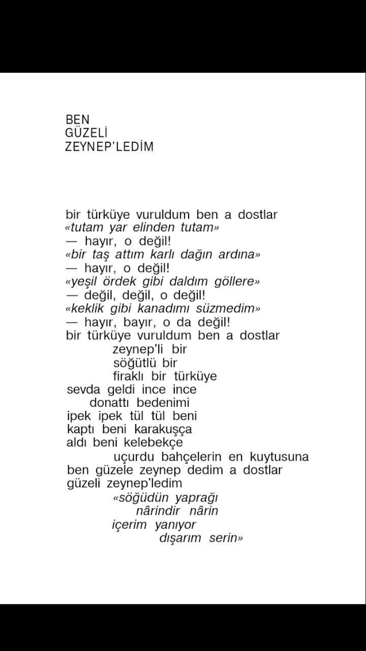 Ben güzeli Zeynep'ledim (1) Hasan Hüseyin Korkmazgil