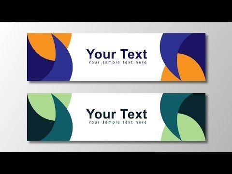 Illustrator tutorial - Vector banner design - YouTube | Design/Learn ...