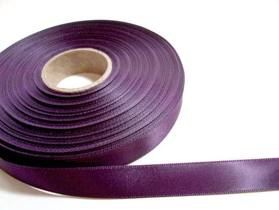 This Listing Is For 1 Yard Of Eggplant Double Faced Satin Ribbon 5 X2f 8 Your Eggplant Double Faced Satin Ribbon W Purple Ribbon Offray Ribbon Satin Ribbon