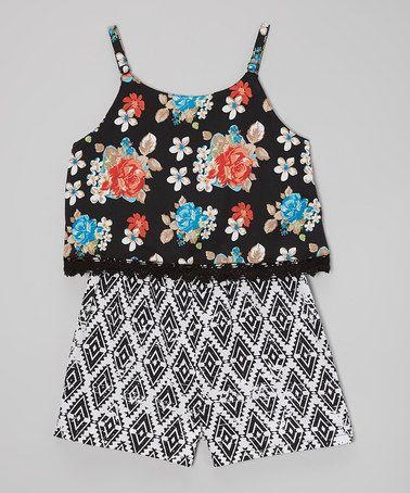 52e1997d3edc Black Floral Romper - Infant