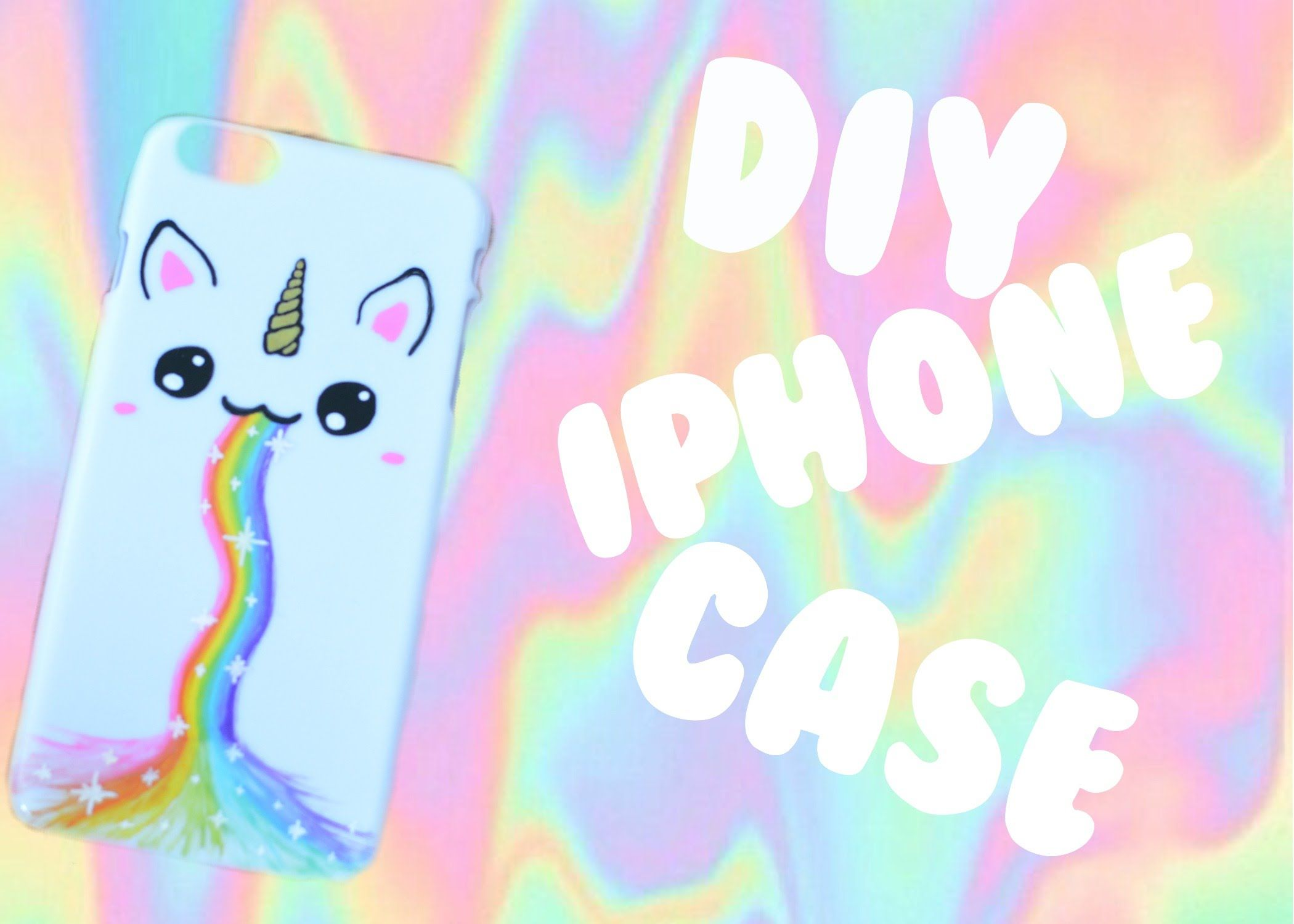 Diy unicorn rainbow iphone case phone case ideas
