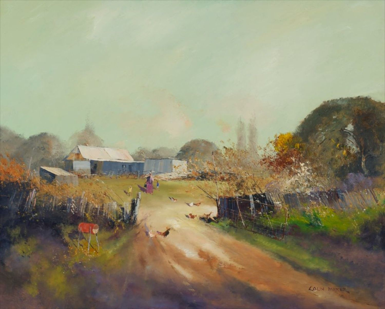 "Collin Parker - "" Wattle Flat Farm"" 72x90 #13581 #CollinParker #ContemporaryArt #AustralianArt #Art"