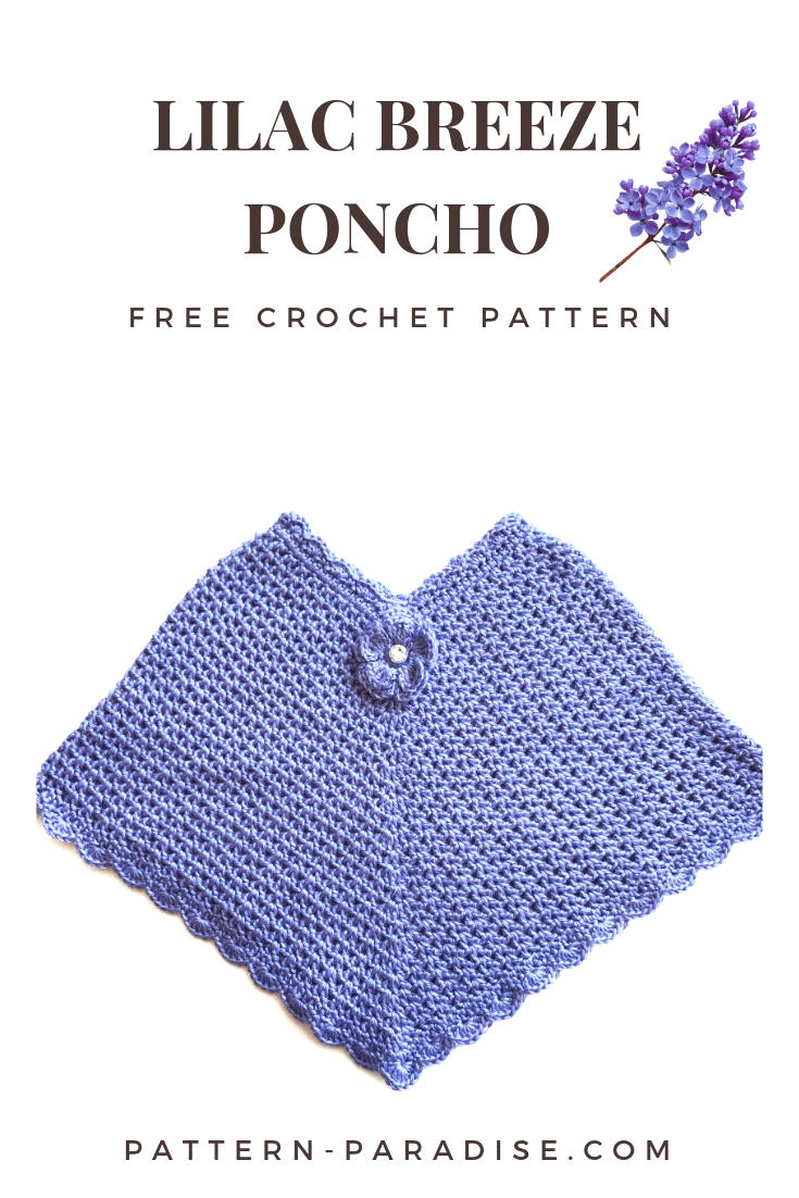 Free Crochet Pattern: Lilac Breeze Poncho | Pattern Paradise