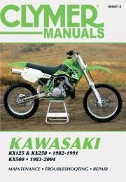clymer m447 3 service repair manual for kawasaki kx125 kx250 rh pinterest com kawasaki kx250 repair manual free download kawasaki kx250 service manual