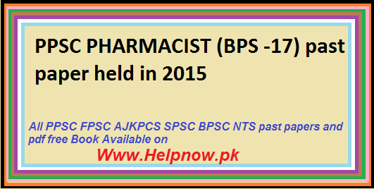 ppsc PHARMACIST past paper,Download free pdf book for ppsc