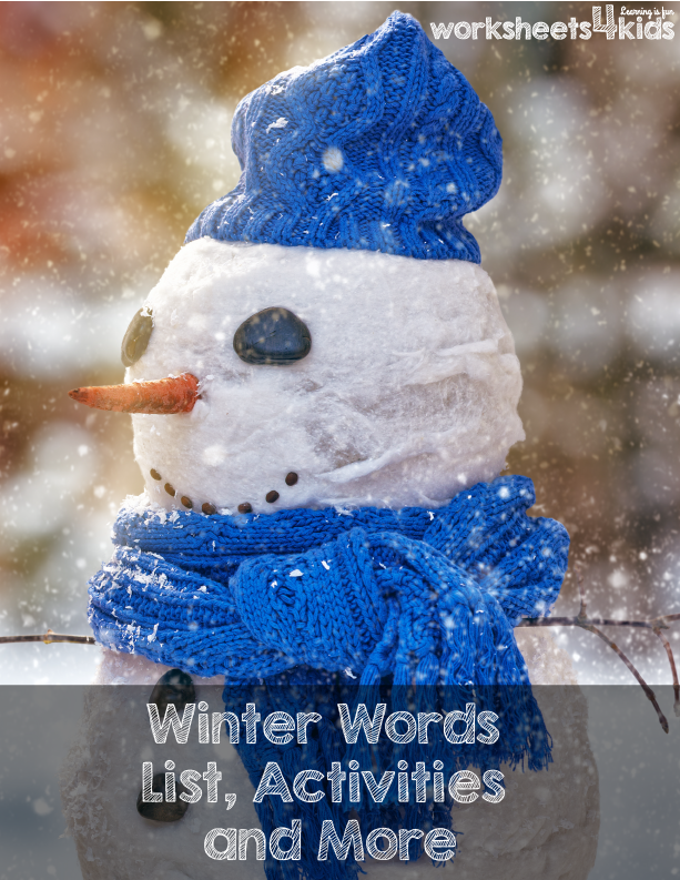 Winter words activities and worksheets for kindergarten and winter words activities and worksheets for kindergarten and preschool kids here your child will learn sciox Gallery