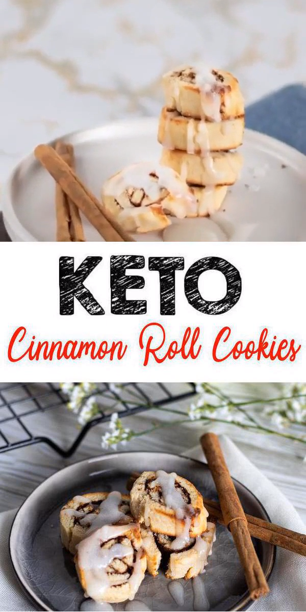 BEST Keto Cookies! Low Carb Keto Cinnamon Roll Cookies Idea – Quick & Easy Ketogenic Diet Recipe – Completely Keto Friendly images