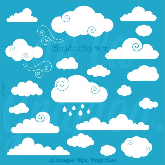 Clouds Clip art Clipart. Vector Clouds Clipart. by Delagrafica ...