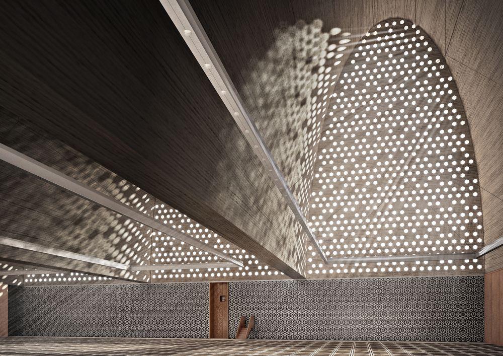 Prayer hall matteo cecconi diego collini sacred for Idee architettura interni