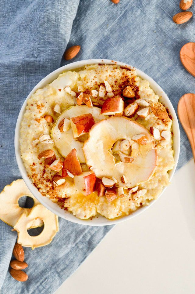 Millet doesn't get that much love, but it's actually a delicious way to mix up your typical oatmeal routine. Get the recipe.