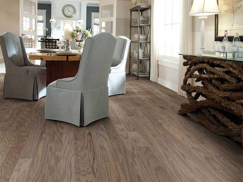 Warm Greige Hardwood Flooring Dining Room Inspiration