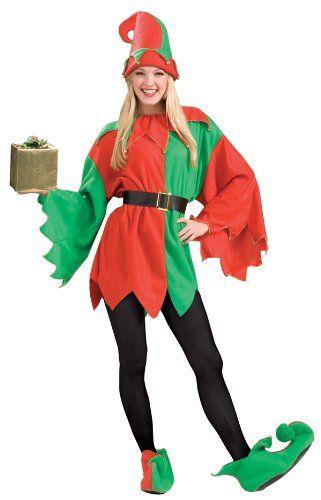 Amazon.com Santau0027s Helper Elf Christmas Costume - Adult Std. Clothing  sc 1 st  Pinterest & Amazon.com: Santau0027s Helper Elf Christmas Costume - Adult Std ...