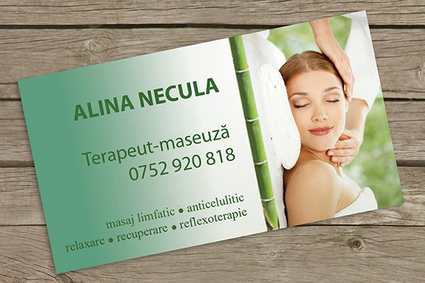 Simple single side green massage therapist business card template simple single side green massage therapist business card template designed for alina necula cheaphphosting Gallery